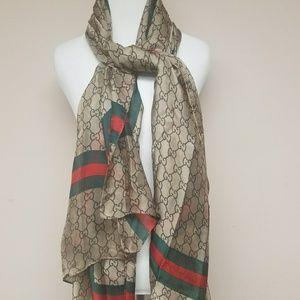 New large silk GUCCI scarf/wrap.